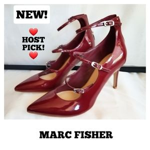 NEW Marc Fisher heels, Dark Red Patent leather